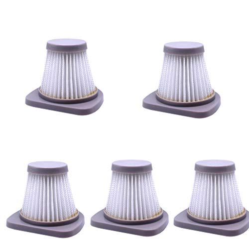 iYBWZH Filter Accessory Replacement Kit for Midea SC861 SC861A Handheld Vacuum Cleaner,5 Pcs (5 Pcs, White)