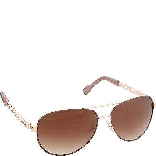 Rocawear Women's R571 GLDND Aviator Sunglasses, Gold & Nude, 60 - Rocawear Glasses