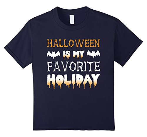 Kids Halloween Is My Favorite Holiday T-Shirt 12 Navy (Halloween Is My Favorite Holiday)