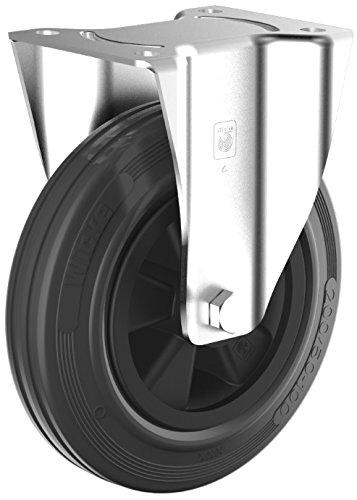 Schioppa L10 Series 50 mm GLEFD 210 GEL Green FPI 90 lbs 10 mm Diameter x 25 mm Length Threaded Stem Swivel Brake Caster Non-Marking Polyurethane Whl 2
