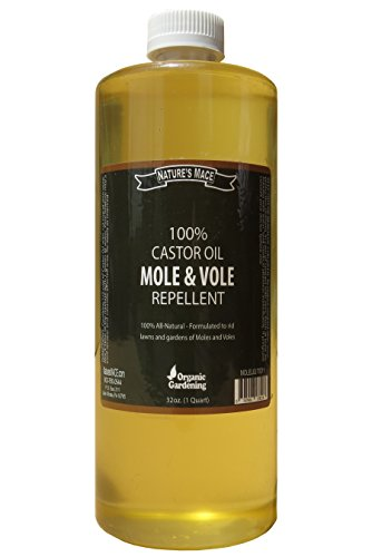 Mole Repellent 100% Castor Oil-32oz - Armadillo Repellent