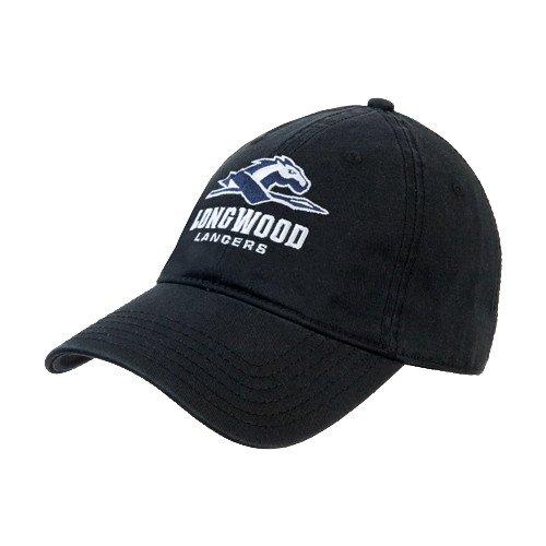 LongwoodブラックTwill Unstructured Low Profile帽子「公式ロゴ」   B00M8J52MC