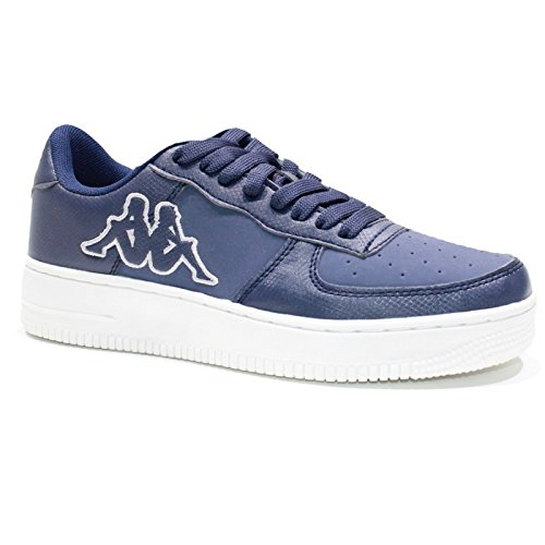Kappa Unisexe Chaussures Hommes Femmes Chaussures Sneakers Low Blue Gymnastique