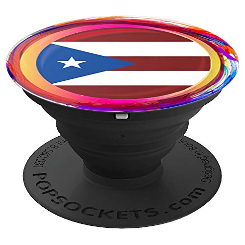 PUERTO RICO Flag Holi Greeting Boricua - PopSockets Grip and Stand for Phones and Tablets