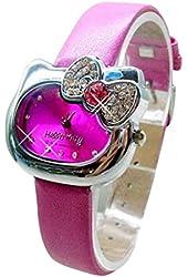 Lovely Fashion Hello Kitty watches Girls Ladies Wrist Watch WKT@DGWHK5M