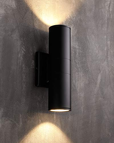 LEONLITE LED Cylinder UP Down Light, 20W (120W Equivalent), Super Bright LED Wall Mount Lamp, for Decoration on Door Way, Corridor, Garage, 5 Years Warranty