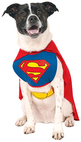 DC Comics Pet Costume, Superman, Large]()