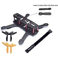 Readytosky Full Carbon FPV Drone Frame Drone 250 Quadcopter Frame Kit like QAV250 for FPV Multirotor Part 250mm Quadcopter Frame 4MM Arms carbon Fiber Drone Frame