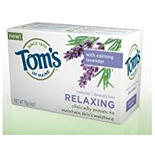 Tom's of Maine Natural Beauty Bar - Relaxing Bath Soaps 113 g (Pack of 6) by Tom's of Maine