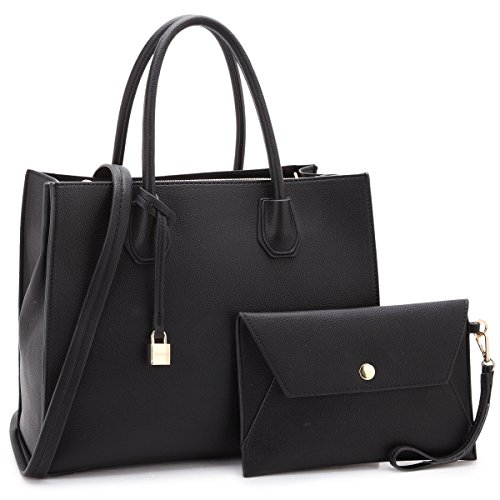 Designer Handbags Purses For Women Tassel Lock Satchel Bags Top Handle Shoulder Bag With Matching Wallet ()