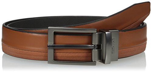 Kenneth Cole REACTION Men's Reversible Belt Gunmetal Buckle