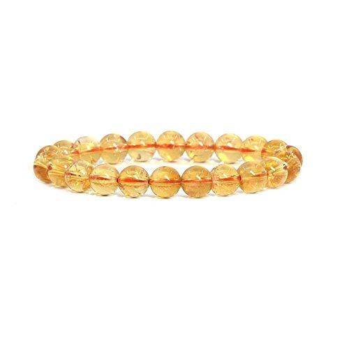 Neerupam collection Natural citrine gemstone 12 mm round shape beads bracelet -