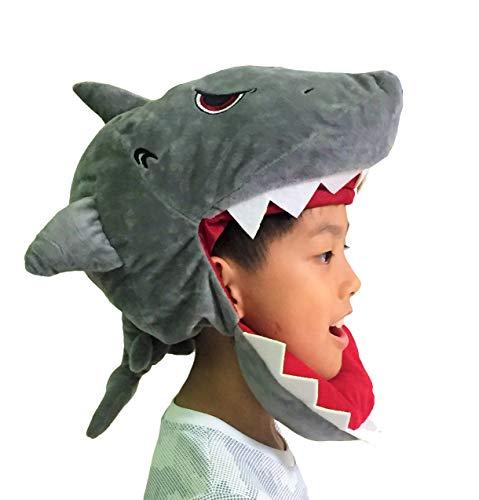 Cafolo Super Cute Cartoon Cosplay Accessories Hat Head-Pieces Cap Headgear Great Costume Décor for Halloween Christmas (Gray Shark)