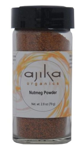 Ajika Organic Nutmeg Powder, 2.8-Ounce