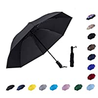 NOOFORMER Automatic Inverted Folding Umbrella - Compact Lightweight Windproof Travel Reverse Car Umbrellas for Men Women Multiple Colors