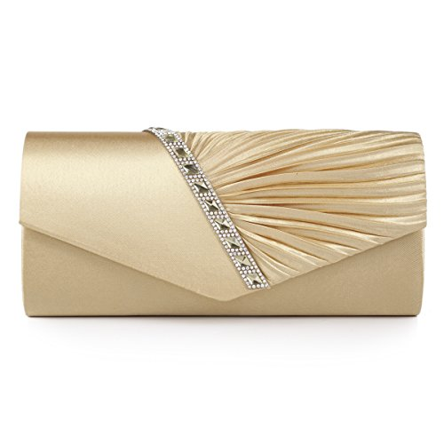 Damara-Womens-Pleated-Crystal-Studded-Satin-Handbag-Evening-Clutch