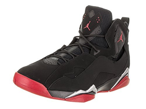 Jordan True Flight Men's Basketball Shoes Black/Gym Red-Metallic Silver 342964-001 (12 D(M) US)