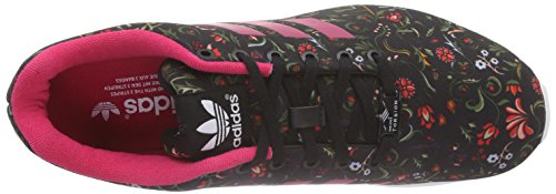 adidas Damen ZX Flux Laufschuhe Schwarz (Core Black/Vivid Berry S14/Ftwr White)