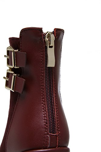 Heels AllhqFashion with Shi Double Jugged Womens Claret High Xi Microfibre Boots Velvet rBBYwx6pq
