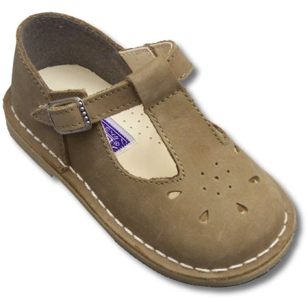 - Infant And Toddler Shoes for Girls ~ Khaki Nubuck L'Amour T-Strap 837 SIZE 7