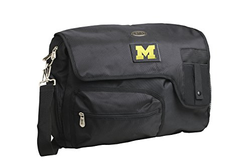 Why Should You Buy Denco NCAA Michigan Wolverines Travel Messenger Bag, 15-Inch, Black