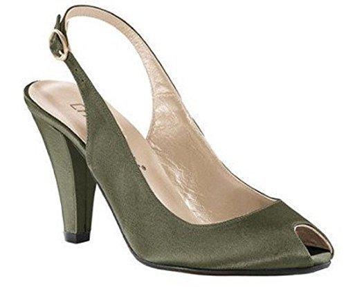 CHILLANY Pumps - Sandalias de Vestir de tela Mujer verde - verde