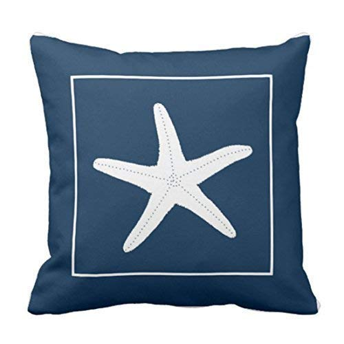 DAIAII Decorativas para Almohada Throw Pillow Cover Nautical Theme Cushion Covers 45cm x 45 cm Pillow Cases Birthday for Mom for Dad Best Friends Throw Pillow Covers