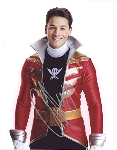 ANDREW GRAY as Troy Burrows/Red Megaforce Ranger - Power Rangers GENUINE AUTOGRAPH]()