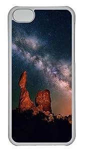 Customizable iPhone Cases Desert Night iPhone 5C Hard Case - Polycarbonate - Transparent