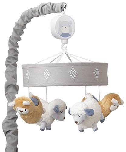 Happi By Dena Lambs & Ivy Little Llama Sheep Musical Mobile, Gray/Blue [並行輸入品]   B07GGVVXS8