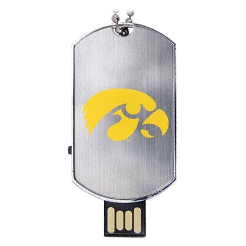 Iowa Hawkeyes Flash Tag USB Drive 16GB (Hawkeye Flash)