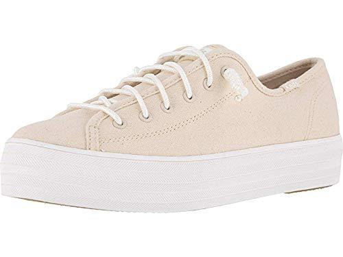 Knotted Platform - Keds Womens Triple Kick Laces Casual Shoes Beige 10
