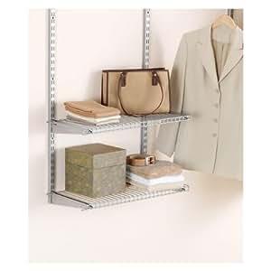 "Rubbermaid Configurations Custom Closet Add-On Shelving Kit, Titanium, 26"", FG3H9102TITNM"