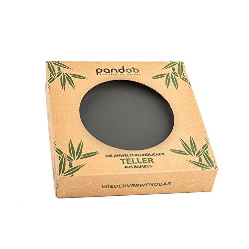 Bambus Teller 6er-Set – BPA-frei & lebensmittelecht – Picknick & Camping Geschirr