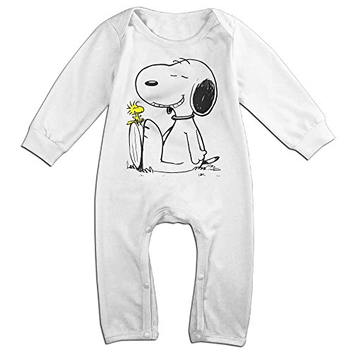 Price comparison product image Peanuts Snoopy Sleeping Baby Cool Long Sleeved Clothes White