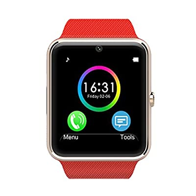 AirsspuTM Bluetooth Smart Watch with camera Cell Phone Watch Phone Mate for Android Samsung S3/s4/s5/note 2/note 3/note 4 HTC Sony Lg and Iphone 5/5c/5s/6/6 Plus