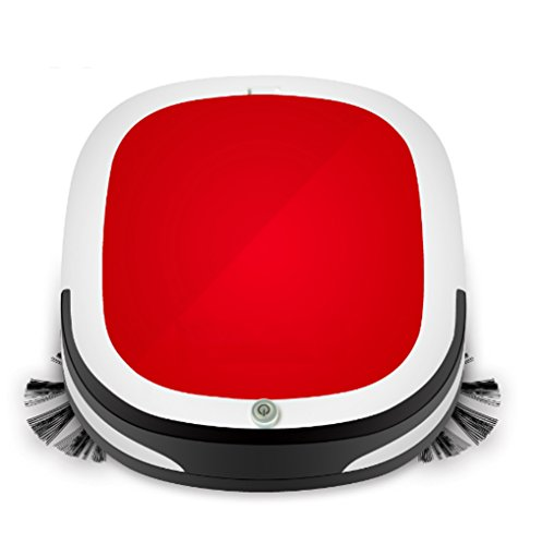 WZG Vacuum Cleaner Robot For Home Dry And Wet Mopping Smart Sweeper Large Suction To Prevent Collision Automatic Hoover,Red
