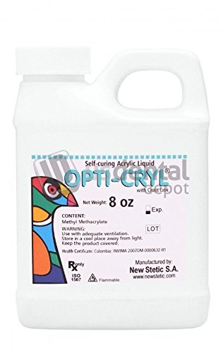 Opticryl- Monomer Self Cure only 8oz (Acrylic Resin Liquid) New Stetic veracryl - This product can only be shipped by ground transportation- it cannot be shipped by air. 100247 Us Dental Depot