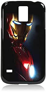 Iron man side profile - Hard Black Plastic Snap - On Case with Soft Black Rubber LiningGalaxy s5 i9600 - Great Quality!
