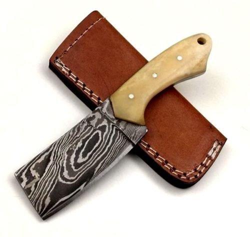 "ASH fa5b Damascus steel custom handmade hunting knife 6"""