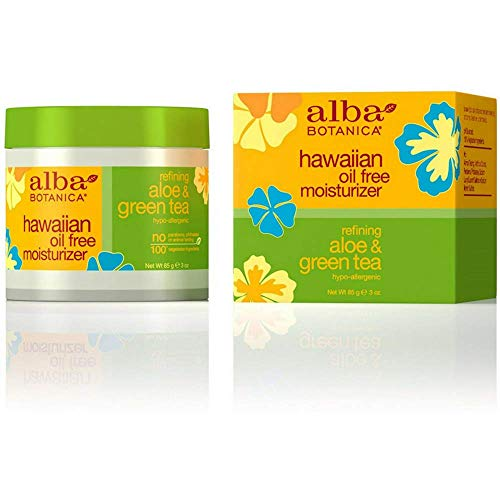 Alba Botanica Aloe & Green tea, Oil-Free Moisturizer, 3 Ounce (Pack of 6)