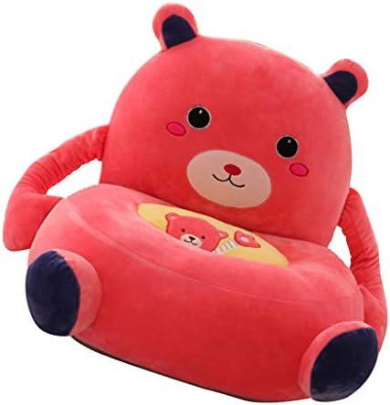 漫画動物 キッズ シートソファカバー ベビーチェアカバー ベルベット ギフト 55×50cm - くま(赤)