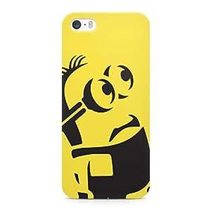 Loud Universe Minion Case Kevin Silhouette Sleek Design Durable Wrap Around iPhone 5s Case - Yellow