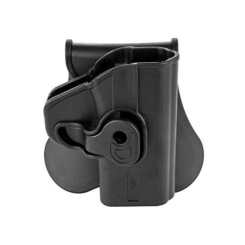 Black Handgun Paddle Swivel Holster, Right Handed - Boomstick - Fits Glock 26, 27, 33 (Gen 1,2,3,4) Model Pistols