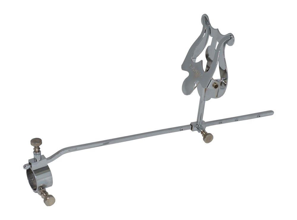 Atril marcha tromb/ón ajustable soporte /Ø 20 mm