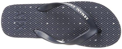 Armani Exchange A X Men's Dot Print Flip Flop Dot Print Navy Q4TxD