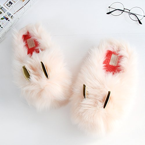 Shoe Outdoor Slippers Fuzzy Bunny Indoor Slippers Bunny Pink Plush Furry Rabbit Women Pink Fleece PvqSqw