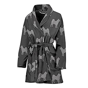 Simply Cool Trends Akita Dog Pattern Print Women's Bath Robe 14