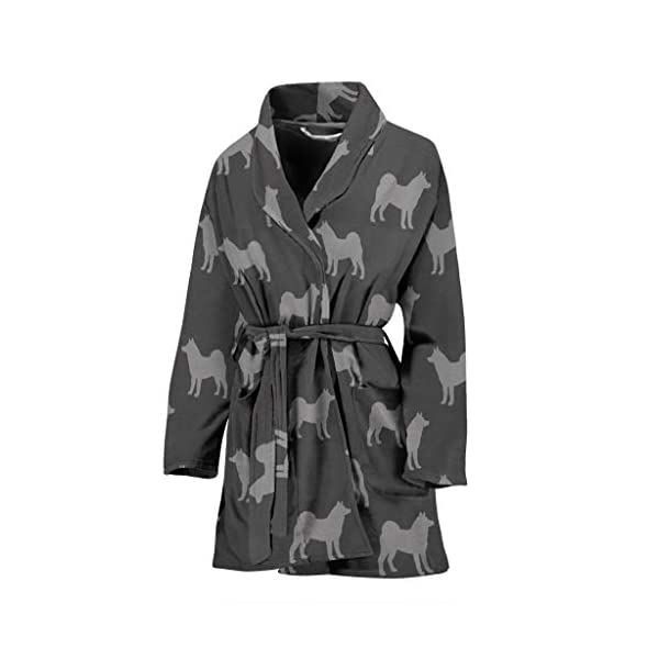 Simply Cool Trends Akita Dog Pattern Print Women's Bath Robe 1