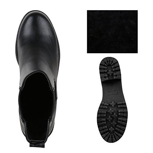 Stiefelparadies - Botas Chelsea Mujer negro